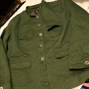 6c4827dbe77f4 Mossimo Supply Co. Jackets   Coats - Women s Plus Mossimo Twill Military  Jacket 24W